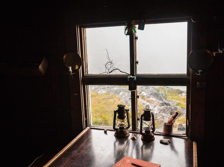 Hytta In Norwegen Beim Wandern