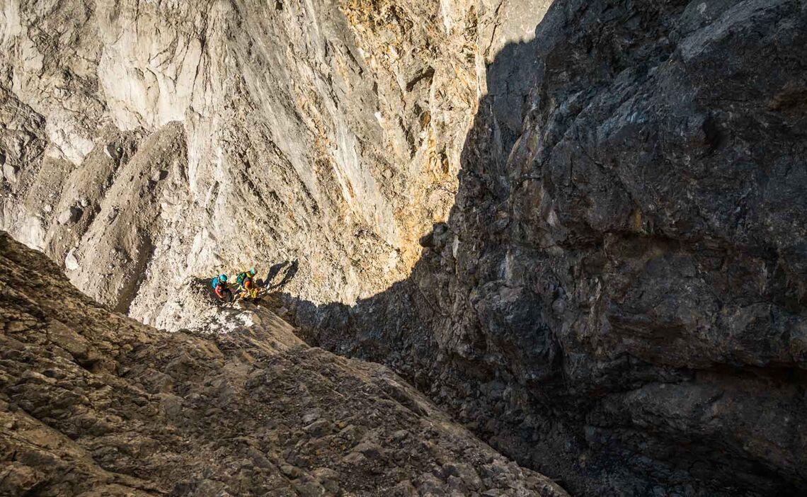 Kletterei Im Zweiten Schwierigkeitsgrad In Der Watzmann Ostwand Wiederroute