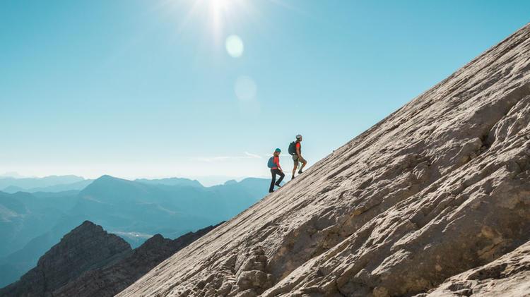 Klettern In Der Watzmann Ostwand Wiederroute Zur Mittelspitze