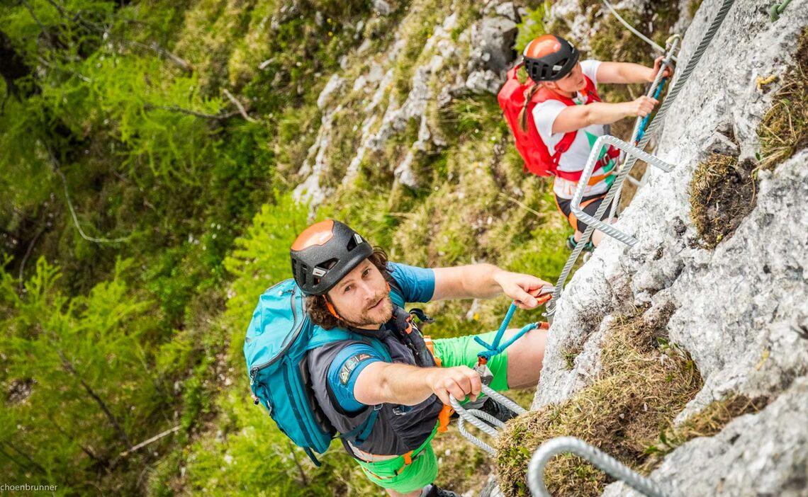 Klettersteig Gehen In Berchtesgaden Am Jenner Laxersteig