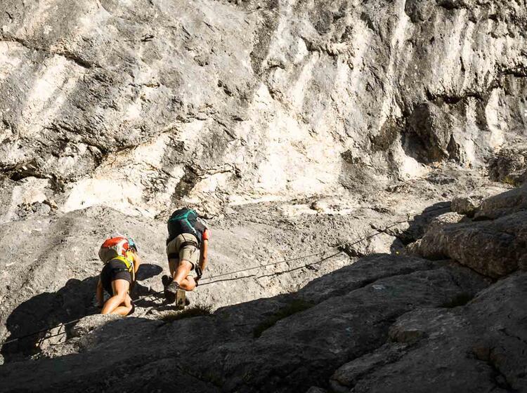 Klettersteig Untersberg : Untersberg hochthronsteig klettersteig führung mit bergführer
