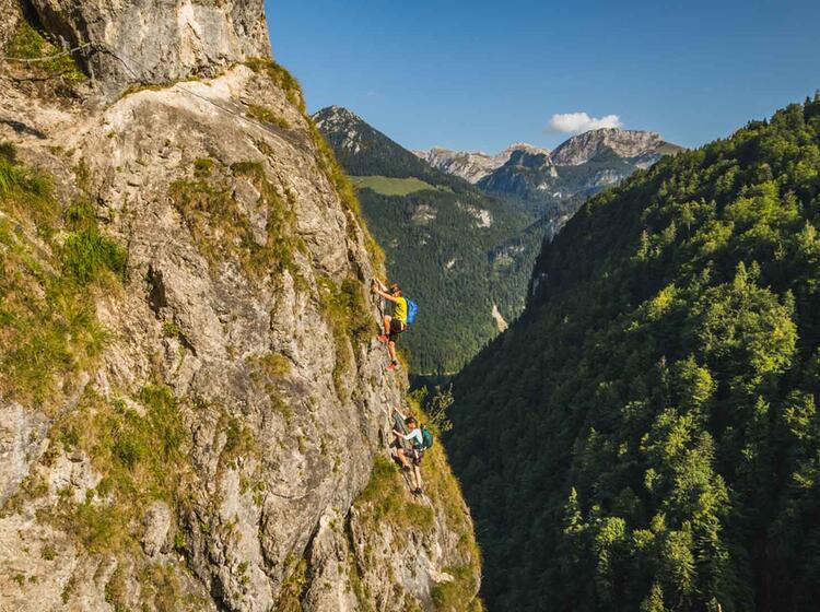 Klettersteig Kurs Und Fuehrung Am Gruenstein Isidor Steig In Berchtesgaden