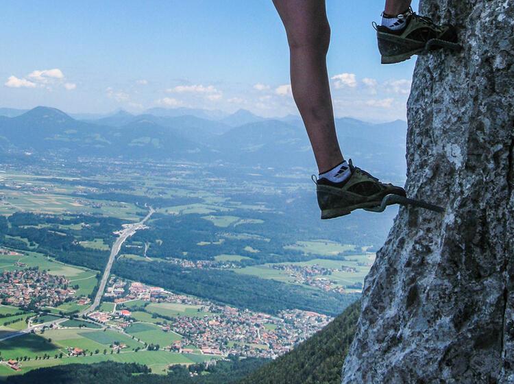 Klettersteig Mit Asussicht Nach Salzburg Am Pidinger Klettersteig