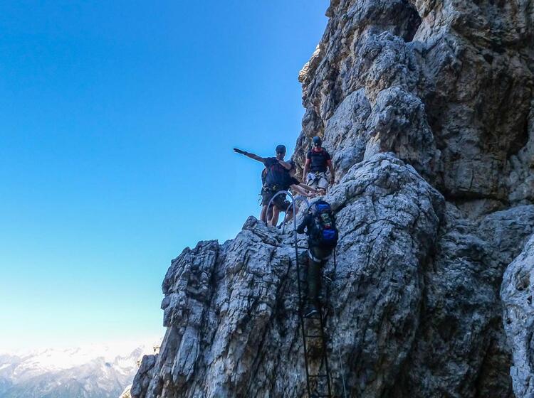 Klettersteig Mit Bergfuehrer In Der Brenta Sentiero Alfredo Bennini