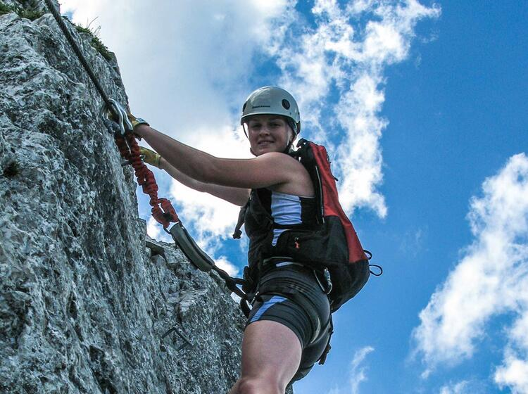 Klettersteigfuehrung Pidinger Klettersteig