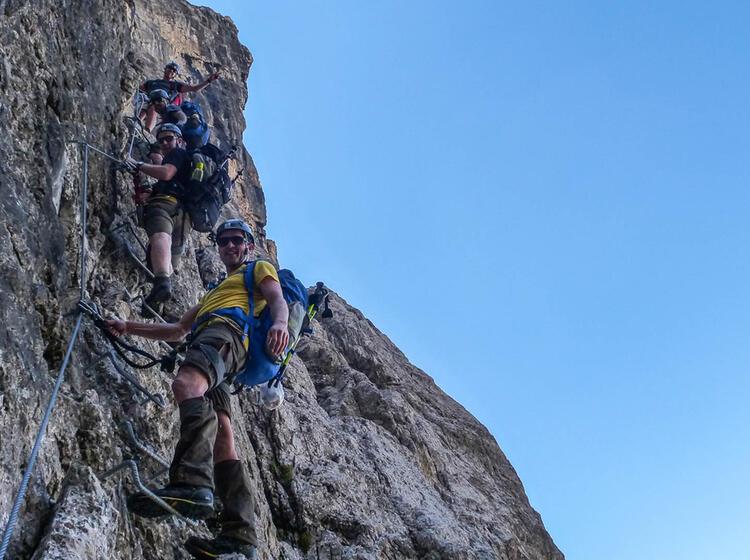 Klettersteigkurs Dolomiten Brenta