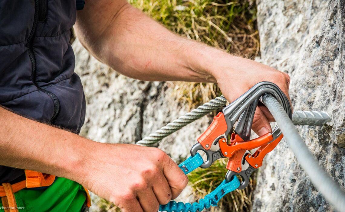 Klettersteigset Einweisung Am Klettersteig Jenner Laxersteig