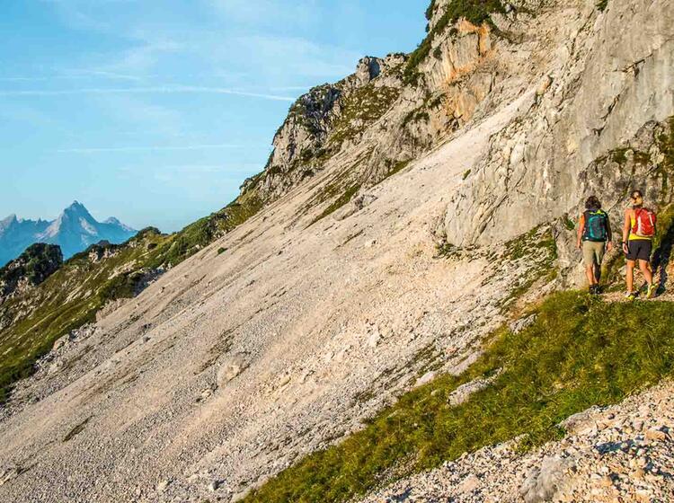 Kurz Vor Dem Einstieg In Den Untersberg Klettersteig