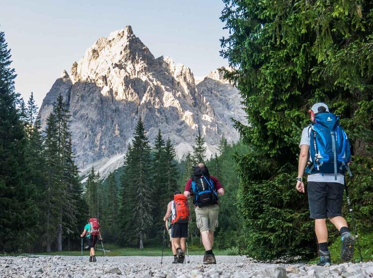 Letzte Etappe Zu Den Drei Zinnen Auf Der Alpenueberquerung