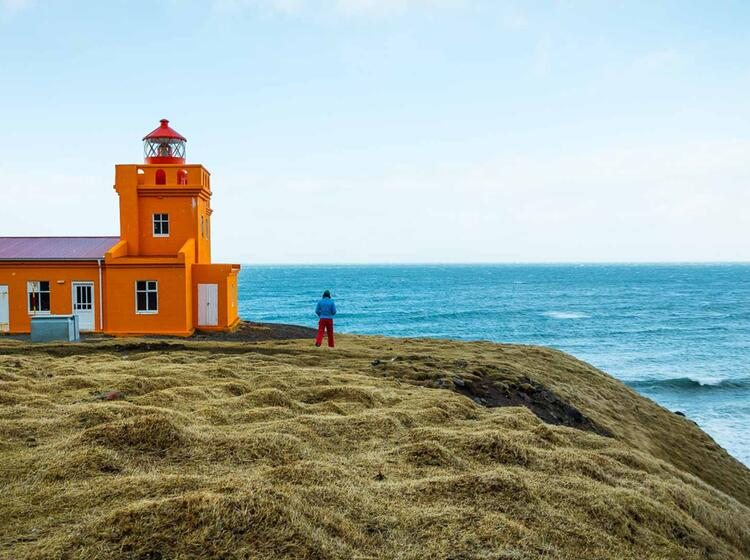 Leuchtturm Auf Der Skitouren Woche Island