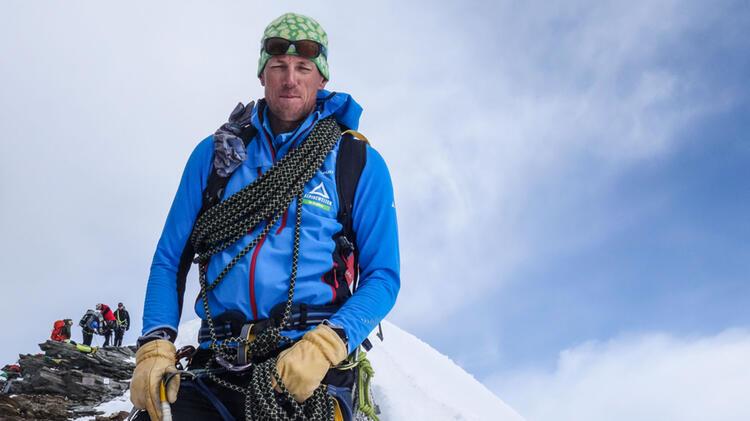 Markus Beck Ist Bergfuerher In Der Silvretta Am Hochtourenkurs Mit Piz Buin