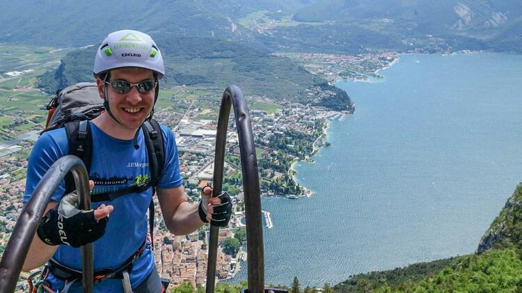 Mit Bergfuehrer Am Klettersteigkurs Gardasee
