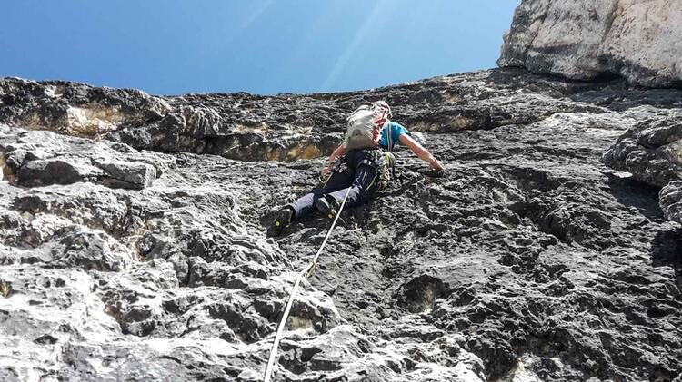 Mit Bergfuehrer Markus Beck Klettern In Den Dolomiten