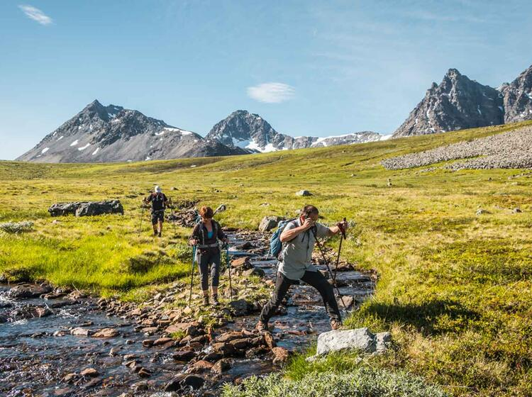 Norwegen Tromsoe Wanderwoche Lyngenfjord