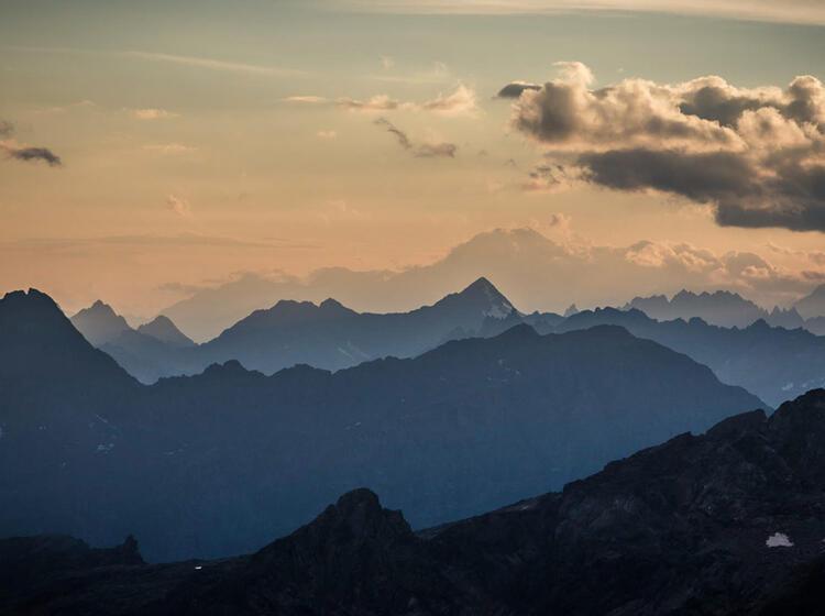 Panorama Mit Blick Zum Mont Blanc