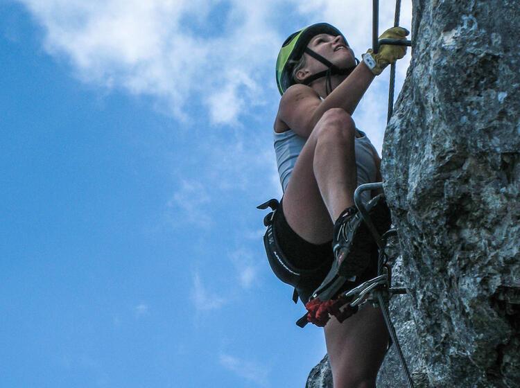 Pidniger Klettersteig Zum Gipfel