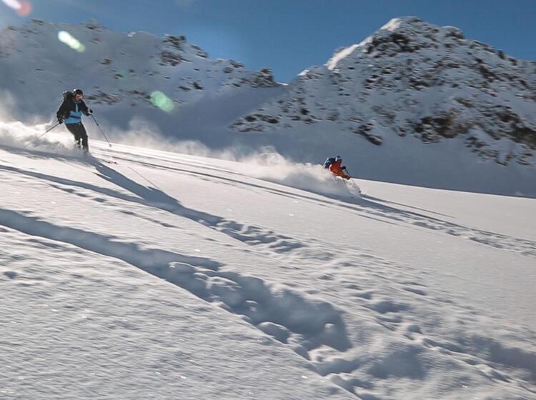 Pulverschneeabfahrt Ins Jamtal Von Der Jamspitze