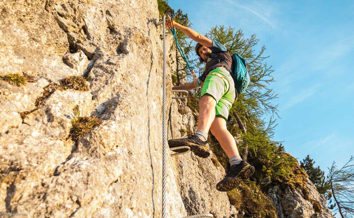 Sauber Antreten Im Neuen Klettersteig Laxersteig In Berchtesgaden