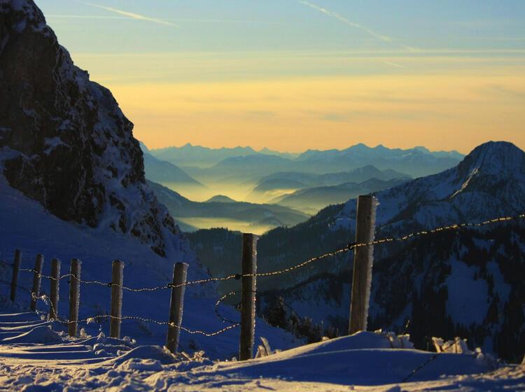 Schneeschuhtour In Der Na He Von Mu Nchen Am Spitzingsee