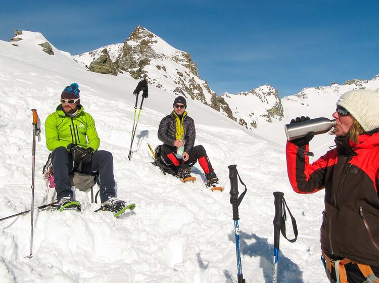 Silvretta Durchquerung Mit Schneeschuhen