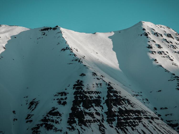 Skitour Auf Die Umliegenden Gipfel In Island