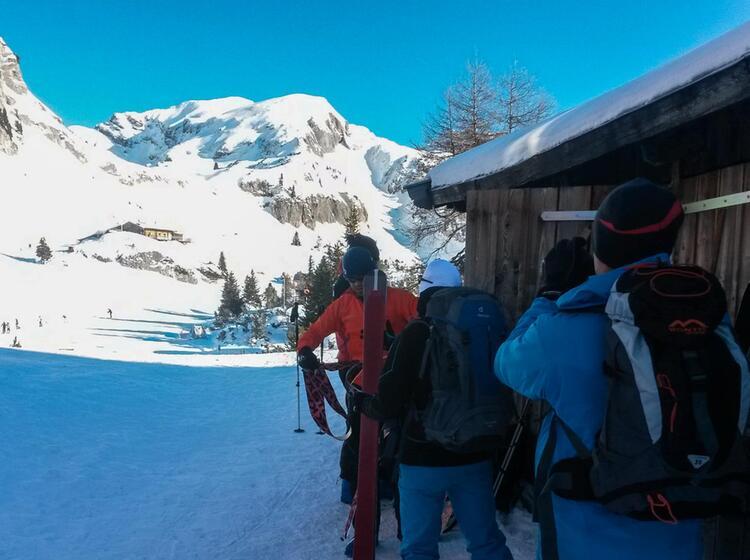 Skitourengehen Lernen Auf Der Erfurter Huette