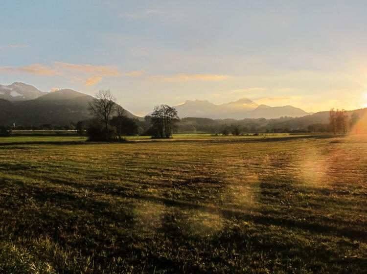 Sonnen Aufgang Im Chiemgau Auf Dem Salzalpensteig