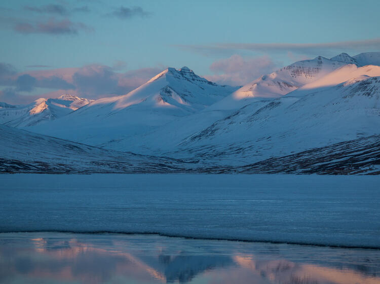 Sonnenuntergang Bei Den Sktiouren Auf Island