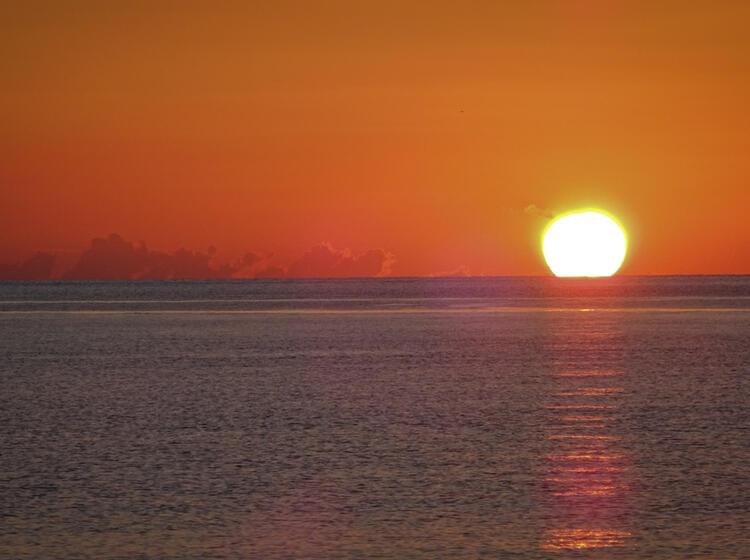 Sonnenuntergang Beim Segeln Klettern Sardinien 8