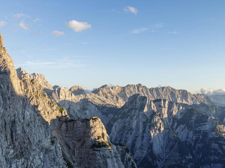 Sonnenuntergang Ueber Den Julischen Alpen