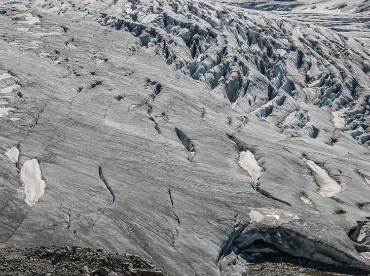 Spaltenreicher Gletscher Am Grossvenediger