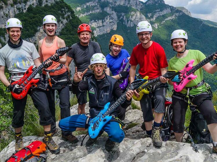 Spass Am Klettersteig Kurs Gardasee