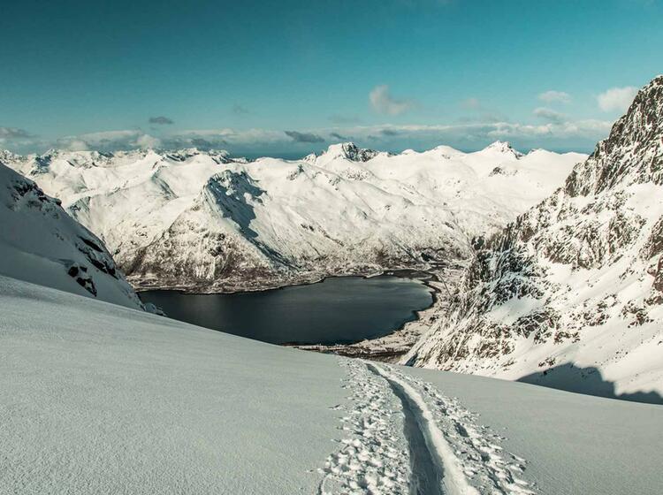 Traum Kulisse Bei Den Skitouren Auf Den Lofoten