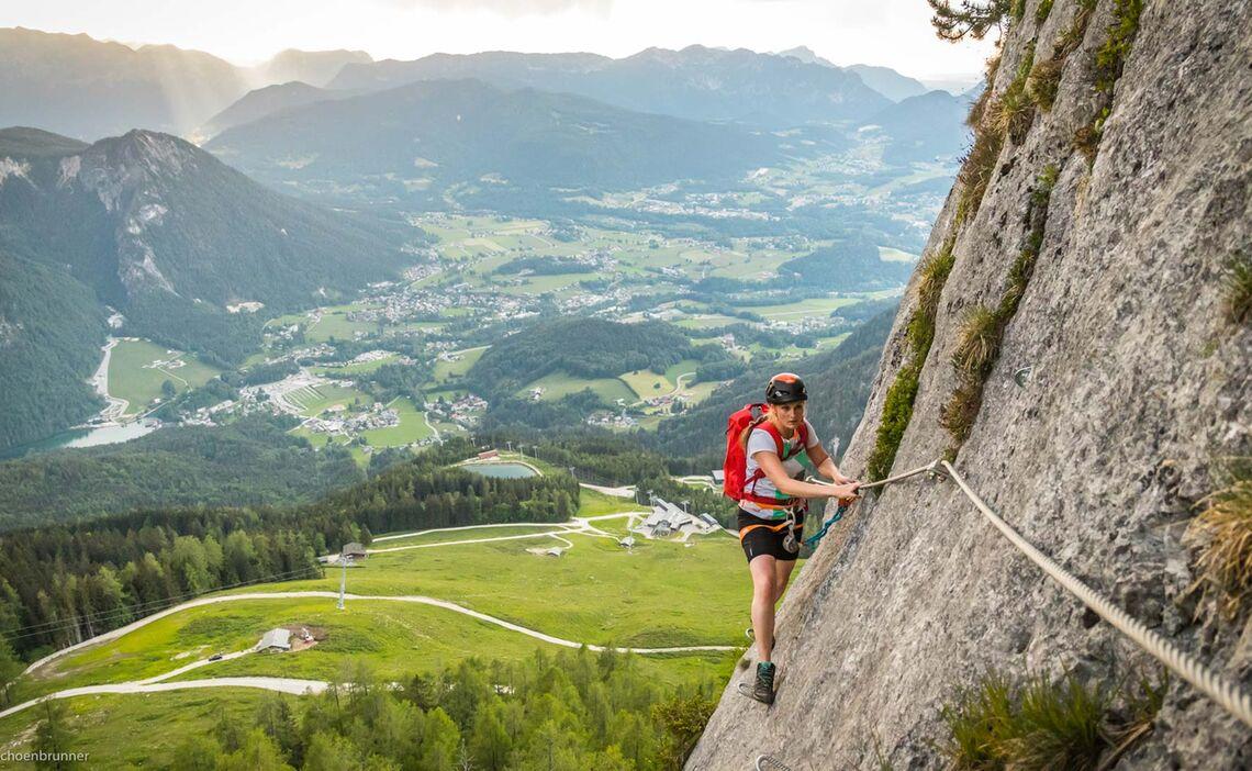 Traumhafte Aussicht Am Jenner Klettersteig Laxersteig