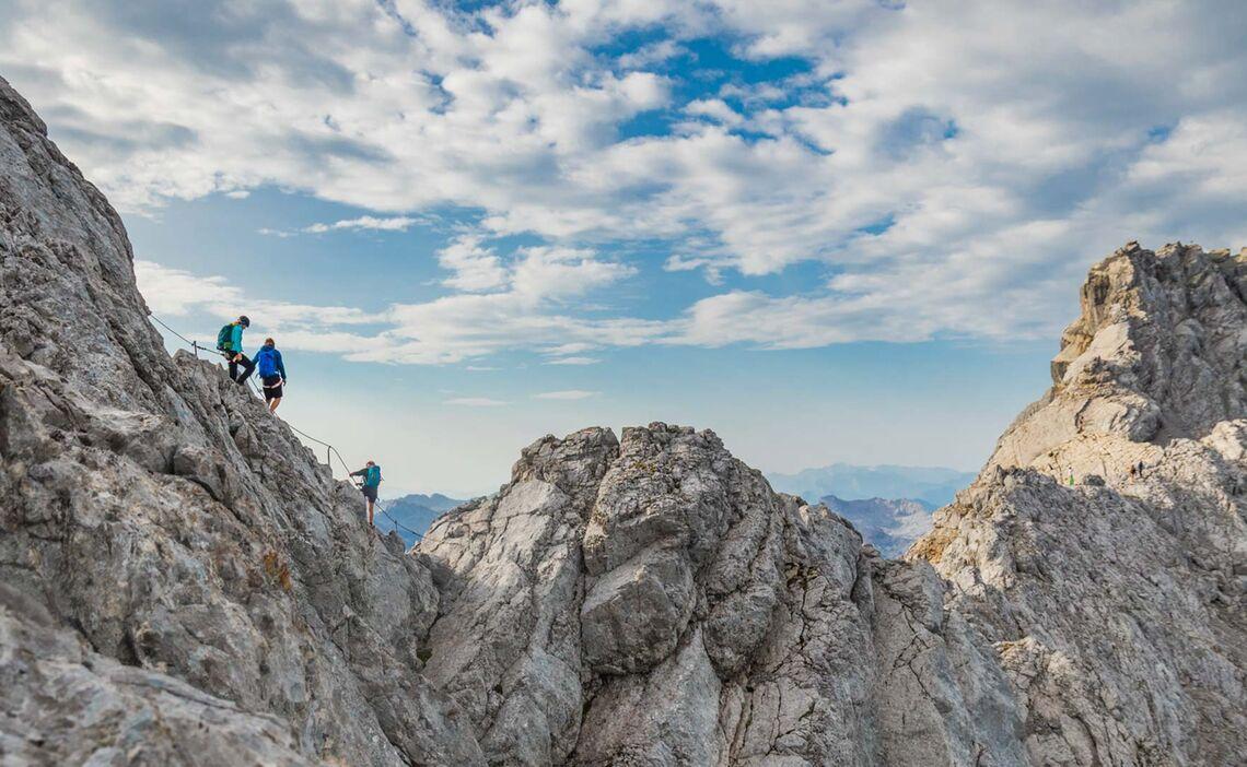 Ueber Den Watzmann Klettern Mit Bergfuehrer