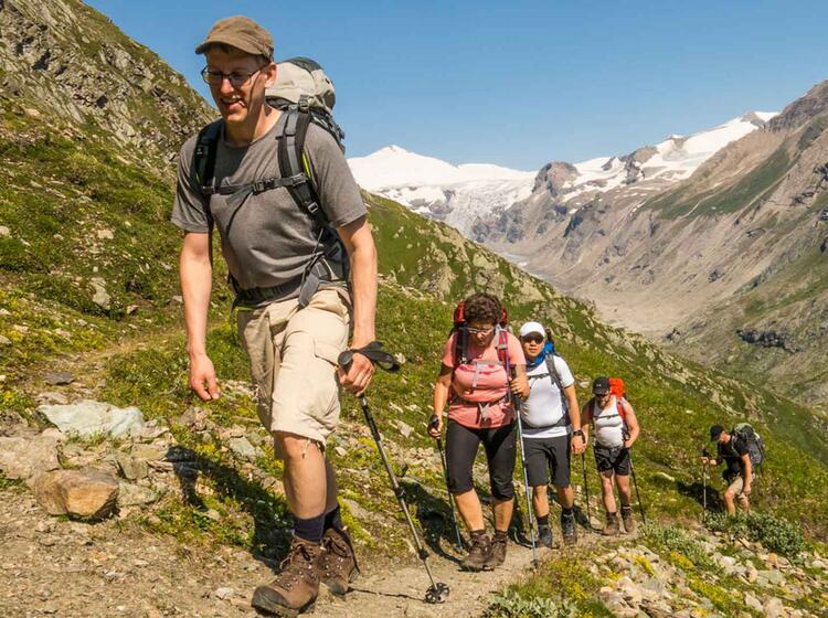 Wandern Auf Der Alpenueberquerung