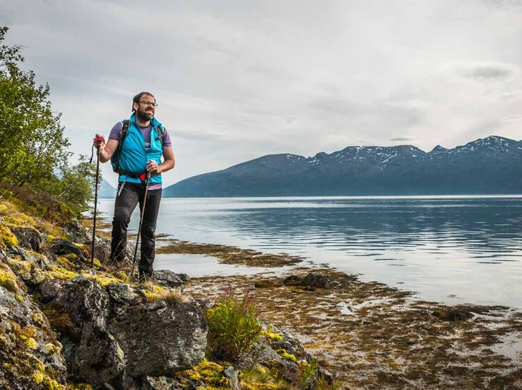 Wandern Direkt Vom Meer In Nordnorwegen Lyngen Fjord