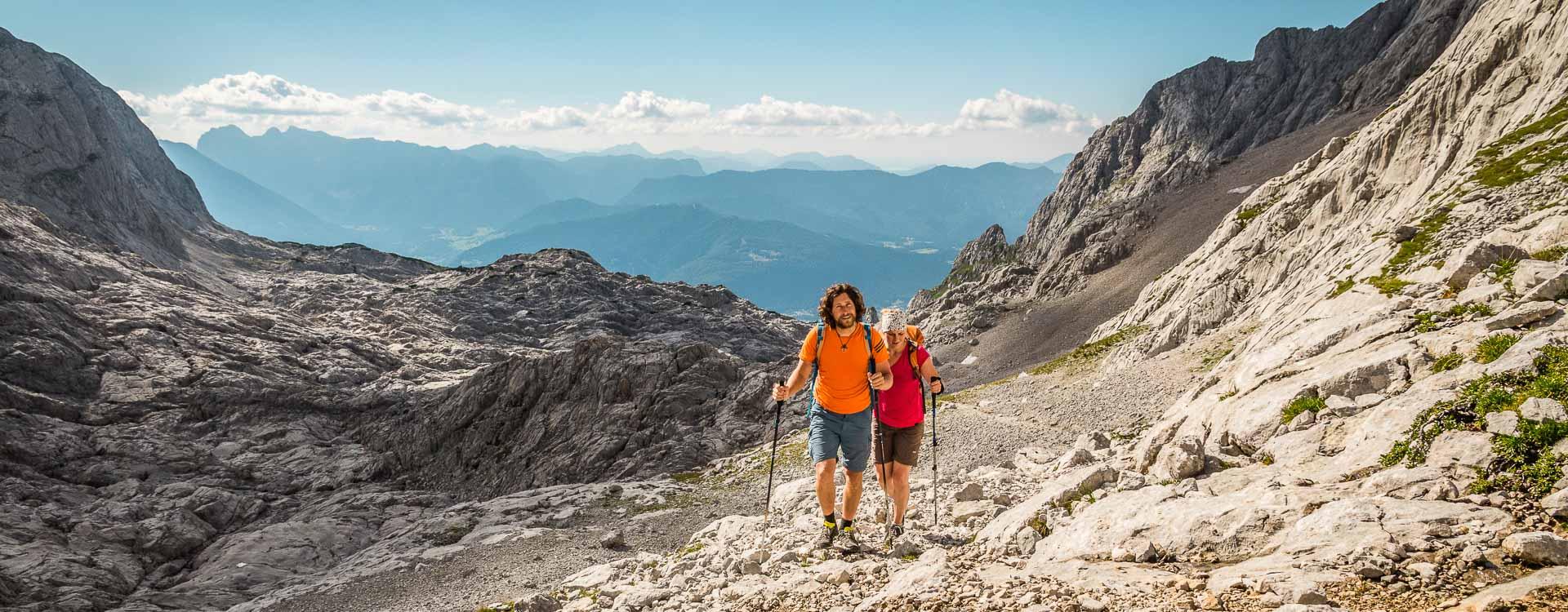 Wandern im steinernen Meer im Nationalpark Berchtesgaden
