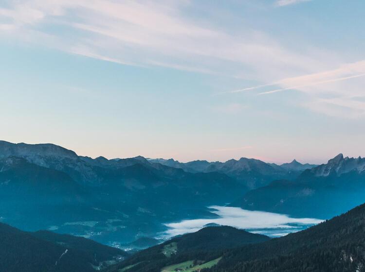 Watzmann Und Der Talkessel Von Berchtesgaden Vom Untersberg